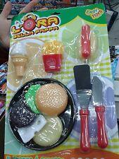 Set fast food cucina bambole e bimbe Kit gioco ottima qualita giocattolo toy