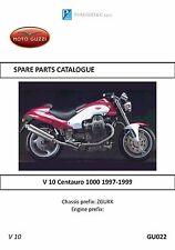 Moto Guzzi parts manual book 1997, 1998 & 1999 V 10 Centauro 1000
