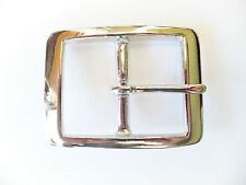 """Strong 1.5"""" [38 mm] NICKEL Plated BRASS Full Rectangle Belt Buckle Leather craft"""