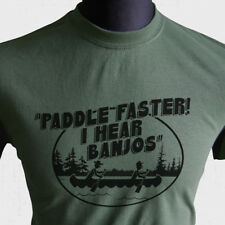 Paddle Faster I Hear Banjos T Shirt Deliverance Funny Joke Redneck Gift Green