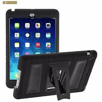 Hybrid Armor Silicone Dual Rugged Tablet Case Kickstand for Apple iPad Air 2