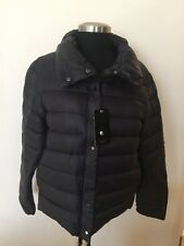 NEW Zara Woman Down Feather Quilted Jacket Warm Puff Winter Coat Black Size XL