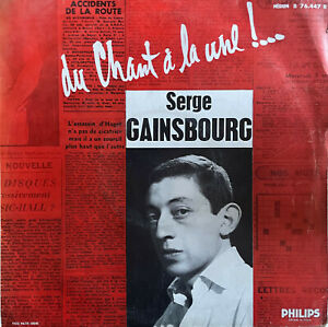 """RARE JAZZ SWING 10"""" SERGE GAINSBOURG DU CHANT A LA UNE OG FIRST FRENCH PHILIPS"""