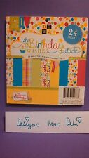"DCWV 6"" x 6"" Cardstock Stack BIRTHDAY WISHES - PRINTS ~ 24ct.  ~ MS-019-00009"