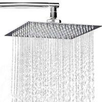 Ultra-thin Shower Head Large Bath Square Head Stainless Steel Rainfall Overhead