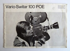 Vintage Vario Switar 100 POE / Bolex Owners Manual Modernist MCM