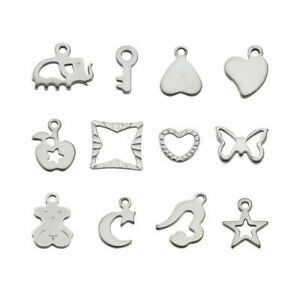 20pcs Mixed 304 Stainless Steel Charms Pendants Dangle Charms DIY Making
