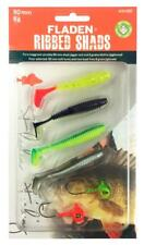 Fladen Soft Ribbed Shads & jig head Lure Fishing Set Pike Perch Zander Trout 002