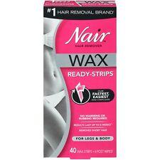 Nair Hair Remover 40 Wax Ready Strips for Legs & Body