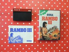 Rambo III 3 Sega Master System in OVP mit Anleitung