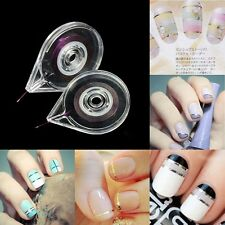 Nail Art Striping Tape CASE Tool Sticker BOX Holder Easy Use Without Nail Strips