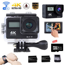 32G Remote 4K Wifi Sports Camera Ultra HD Helmet Mini DV Action Cam W/2Batteries