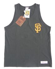 San Francisco Giants men graphic sleeveless tank shirt M black Mitchell & Ness