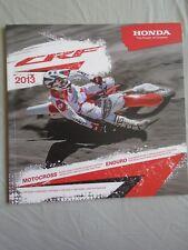 Honda CRF Motorcycle range brochure 2013