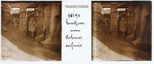 EGYPTE Louksor Colosses Photo Plaque de verre Stereo Vintage c1900