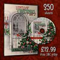GIANT Christmas 3D Decoupage Quality Card Making CD Rom | Free P&P | 350 Sheets!