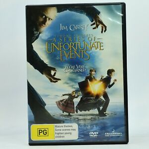 Lemony Snicket's A Series of Unfortunate Event Jim Carrey DVD 2009 GC