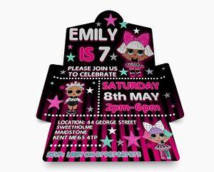 Beautiful Personalised Invitations, Birthday Envitations Pack 10