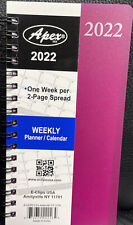 2022 Weeklymonthly Pocket Size Spiral Planner Vinyl Cover 3 12 In X 6 14 In