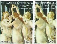 Variété autoadhésif N°509 Botticelli. Belle nuance peau rosée et peau blanche