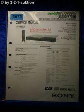 Sony service manual DVP s335 s336 s345 s535d s735d CD/DVD Player (#6673)