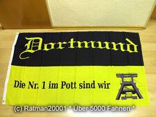 Bandiera bandiera Dortmund la N. 1 nella Pott siamo fan - 90 x 150 cm