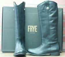 *FRYE Women's Melissa Button Tall Black Leather Boots US 78813 Size 10 M