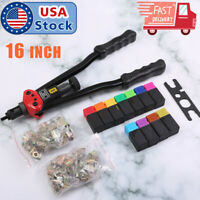 "16"" Rivet Nut Gun Kit Rivnut Setting Tools Nut Setter Tool Hand Blind Riveter"