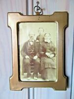 FRENCH ANTIQUE METAL PICTURE FRAME EARLY XX th. C.