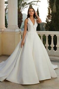 Justin Alexander 88072 ivory wedding dress US12
