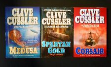 Clive Cussler Medusa, Corsair, Spartan Gold 3 Hardbound Books 2009