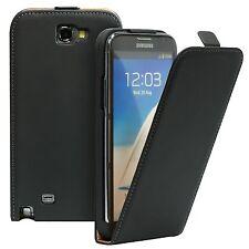 Pour Samsung Galaxy Note 4 - Etui Housse à Rabat Vertical Cuir Noir + Un Film