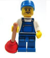 Series 9 SEALED Lego Plumber Handyman Plunger Overall Bathroom Minifigure Fix It