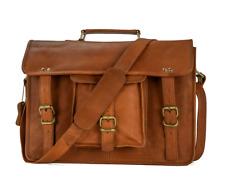 Men Handmade Vintage Leather Messenger Satchel Laptop Sholder Bag Briefcase