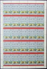 1911 MARMON WASP Indy 500 Race Car 50-Stamp Sheet (1984 Bequia Gren.St.Vincent)