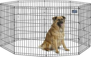 MidWest Homes for Pets Folding Metal Exercise Pen / Pet Playpen 554-36