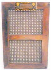 "vIntage * RCA RADIOLA 30A  part:  BACK DOOR WITH WICKER PANELS - 26 & 1/4"" x 18"""
