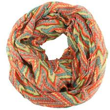 Super Wide Big Soft Psychedelic Loop Circle Eternity Infinity Scarf Chain Red Pk