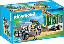 Vehiculo Zoo con Trailer y Jirafa - PLAYMOBIL CITY LIFE 4855 - NUEVO