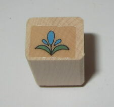 Flower Rubber Stamp Mini Floral Garden Wood Mounted Background Hero Arts #2