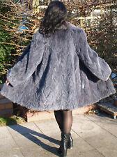 Nerzmantel Nerz Blaufuchs Mantel Nerzjacke Pelz Fell Mode Kurzmantel Denim Blau