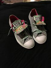 Converse C T Double Tongue OX Lucky Stone Sneaker Size 3 #645135F Grey / Mint