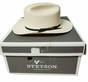 "Stetson Men's Open Road Natural Cowboy Straw Hat SSOPRD-052681 Oval 7-1/4"""
