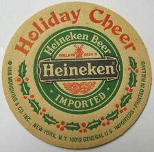 HEINEKEN BEER, HOLIDAY CHEER, Old Christmas COASTER, Mat, HOLLAND, NETHERLANDS
