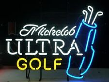 "New Michelob Ultra Golf Bag Neon Light Sign 20""x16"""