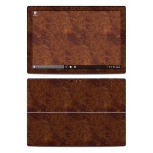 Surface Pro 4 Skin - Dark Burlwood - Sticker Decal