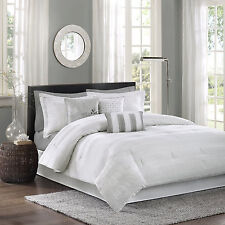White Bedding Set King Comforter 7 Piece Luxury Hotel Collection Sham Hampton