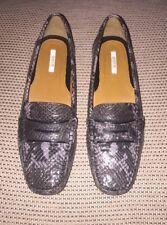Geox Respira Python Print dunkelgrau Leder Halbschuhe Schuhe UK5 EU37 US7 UVP: £ 110