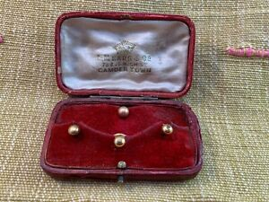 Antique Vintage Evening Dress Shirt Studs in Contemporary Jewellers Box