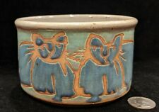 Vintage 1970s Art Pottery Cat Food Dish Very Cute!